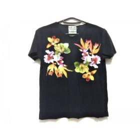 【中古】 イリエウォッシュ IRIE WASH 半袖Tシャツ サイズS レディース 黒 イエロー マルチ