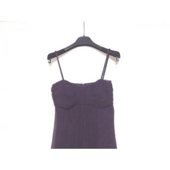 【中古】 シネカノン sinequanone ドレス サイズ36 S レディース パープル シルク
