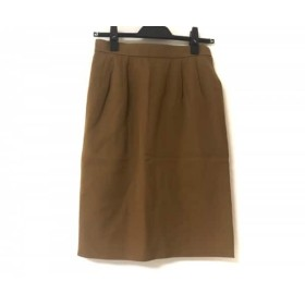 【中古】 イヴサンローラン YvesSaintLaurent スカート サイズM レディース 美品 ブラウン