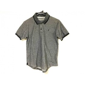 【中古】 ジョン ローレンス サリバン 半袖ポロシャツ サイズM メンズ ダークグレー 黒