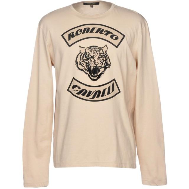《期間限定セール開催中!》ROBERTO CAVALLI メンズ T シャツ ベージュ M コットン 100%