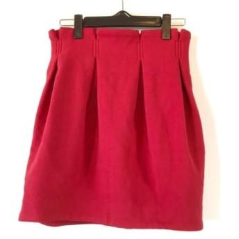 【中古】 リリーブラウン Lily Brown スカート サイズ1 S レディース レッド