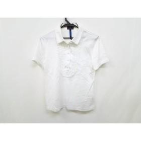 【中古】 ランバンコレクション LANVIN COLLECTION 半袖ポロシャツ サイズ38 M レディース 白 フリル