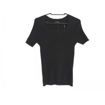 【中古】 ニジュウサンク 23区 半袖セーター レディース 美品 黒