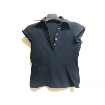 【中古】 セオリーリュクス theory luxe 半袖ポロシャツ サイズ40 M レディース 黒