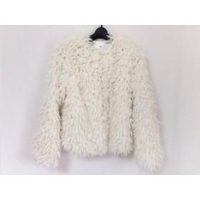 【中古】 スライ SLY コート サイズ1 S レディース 白 フェイクファー/冬物