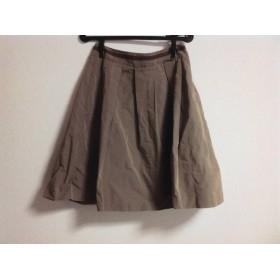 【中古】 アマカ AMACA スカート サイズ38 M レディース 美品 ブラウン