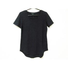 【中古】 セオリー theory ノースリーブTシャツ サイズS レディース ネイビー 黒 ボーダー