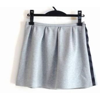 【中古】 ダブルスタンダードクロージング ミニスカート サイズ36 S レディース 美品 グレー