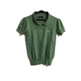 【中古】 フレッドペリー FRED PERRY 半袖ポロシャツ サイズ36 M レディース ライトグリーン ニット