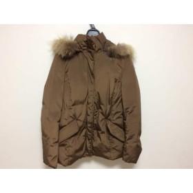 【中古】 アマカ AMACA ダウンジャケット サイズ40 M レディース ダークブラウン 冬物