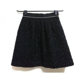 【中古】 アプワイザーリッシェ Apuweiser-riche ミニスカート サイズ0 XS レディース 黒