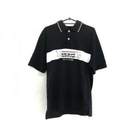【中古】 カステルバジャックスポーツ 半袖ポロシャツ サイズ4 XL メンズ 黒 白 マルチ