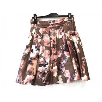【中古】 フレイアイディー バルーンスカート サイズ0 XS レディース ダークブラウン ピンク マルチ