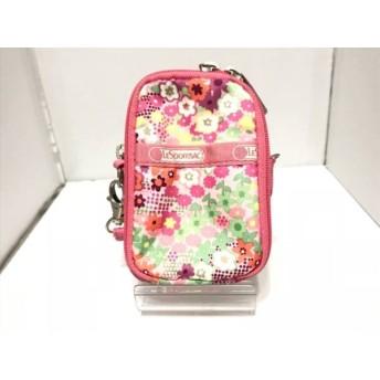 【中古】 レスポートサック LESPORTSAC 小物入れ ピンク マルチ 花柄 レスポナイロン