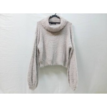 【中古】 ダブルクローゼット w closet 長袖セーター サイズF レディース ベージュ