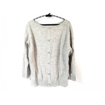 【中古】 アプワイザーリッシェ Apuweiser-riche 長袖セーター サイズ2 M レディース ライトグレー