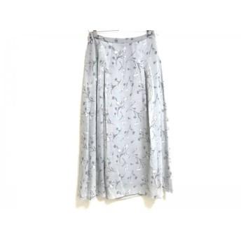 【中古】 ロイスクレヨン Lois CRAYON スカート サイズM レディース 美品 ライトブルー グレー 白 花柄