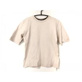 【中古】 アニエスベー agnes b 半袖Tシャツ サイズ1 S レディース ベージュ