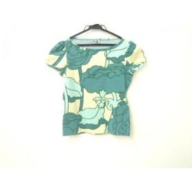 【中古】 モスキーノ チープ&シック 半袖Tシャツ サイズ8 M レディース アイボリー ブルー グリーン