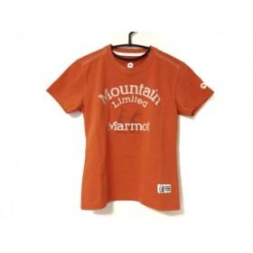 【中古】 マーモット Marmot 半袖Tシャツ サイズS レディース 美品 オレンジ
