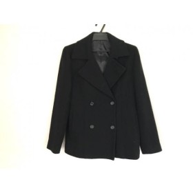 【中古】 イネド INED コート サイズ2 M レディース 黒 冬物