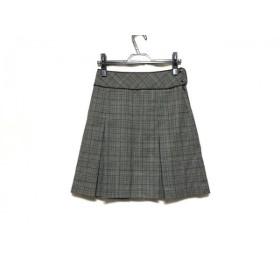 【中古】 ナラカミーチェ NARACAMICIE スカート サイズ1 S レディース 白 黒 レッド 千鳥格子