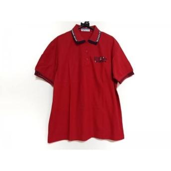【中古】 マンシングウェア Munsingwear 半袖ポロシャツ メンズ レッド ネイビー 白