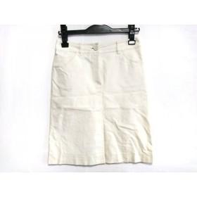 【中古】 ハロッズ HARRODS スカート サイズ2 M レディース アイボリー