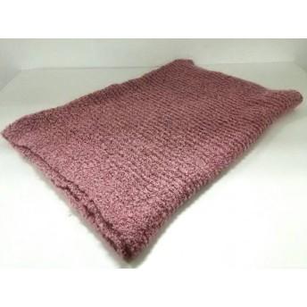 【中古】 プラステ PLS+T(PLST) マフラー ピンク 黒 化学繊維