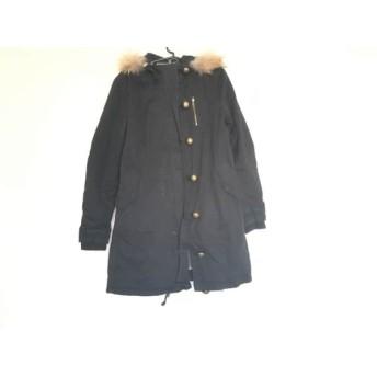 【中古】 セシルマクビー CECILMcBEE コート サイズM レディース 黒 冬物/ジップアップ