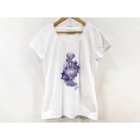 【中古】 レディ Rady 半袖Tシャツ サイズF レディース 美品 白 パープル ビジュー