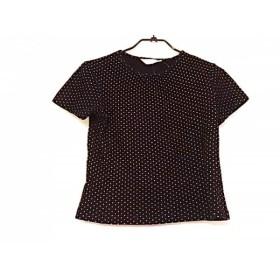 【中古】 ピンクハウス PINK HOUSE 半袖Tシャツ サイズM レディース 黒 ベージュ ドット柄
