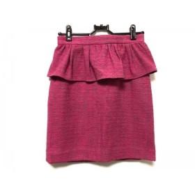 【中古】 アプワイザーリッシェ Apuweiser-riche スカート サイズ0 XS レディース ピンク ツイード