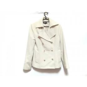 【中古】 ロートレアモン LAUTREAMONT Pコート サイズ2 M レディース 美品 白 肩パッド/冬物