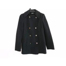 【中古】 ダナキャラン DKNY コート サイズ4 XL レディース 黒 冬物