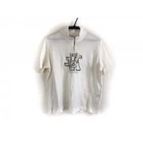 【中古】 バレンザ VALENZA 半袖カットソー サイズ48 XL レディース 白 シルバー ハイネック