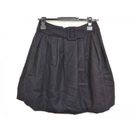【中古】 エムズグレイシー M'S GRACY スカート サイズ36 S レディース 美品 黒
