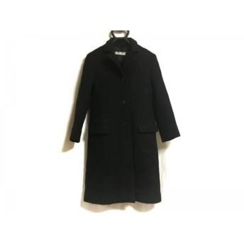 【中古】 ミュウミュウ miumiu コート サイズ42 M レディース 黒 冬物
