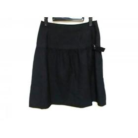 【中古】 ヨークランド YORKLAND スカート サイズ11AR M レディース 黒