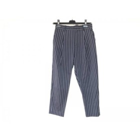 【中古】 ドロシーズ DRWCYS パンツ サイズ1 S レディース 美品 ダークネイビー 白 ストライプ