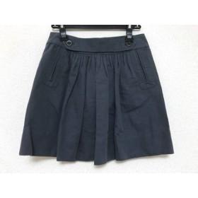 【中古】 シーバイクロエ SEE BY CHLOE ミニスカート サイズ38 M レディース ダークグレー 麻/コットン