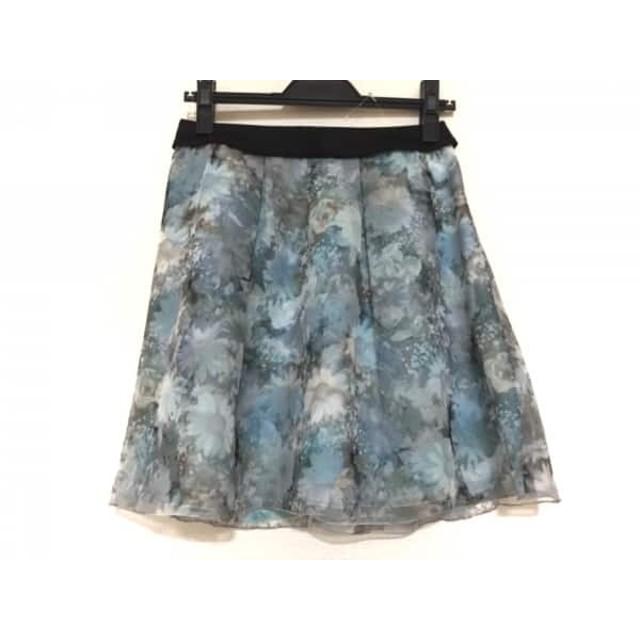 【中古】 アプワイザーリッシェ スカート サイズ1 S レディース ライトブルー グレー マルチ 花柄