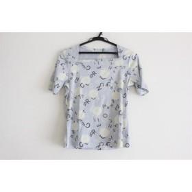 【中古】 インゲボルグ 半袖Tシャツ サイズS レディース 美品 ライトブルー 白 黒 コットン/ドット柄