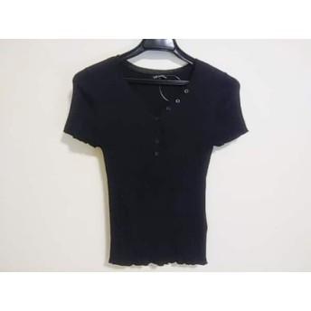 【中古】 ニジュウサンク 23区 半袖セーター サイズ38 M レディース 黒