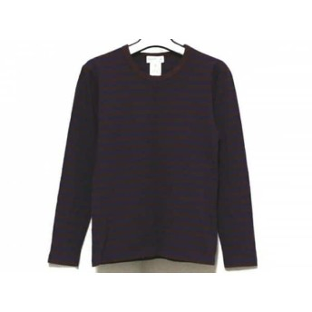 【中古】 アニエスベー agnes b 長袖Tシャツ サイズ0 XS レディース ダークブラウン パープル ボーダー