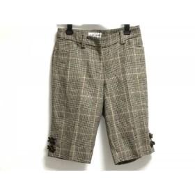【中古】 ギャラリービスコンティ GALLERYVISCONTI パンツ サイズ2 M レディース ダークブラウン マルチ