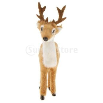 FLAMEER シミュレーションディア 鹿 置物 クリスマス インテリア 10タイプ選べ - 11 x 4 x 12 cm