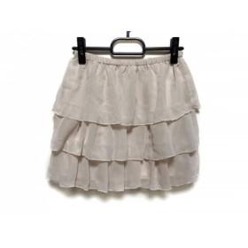 【中古】 ウィルセレクション WILLSELECTION スカート サイズ1 S レディース ベージュ