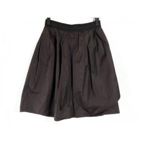 【中古】 カルヴェン CARVEN スカート サイズ36 S レディース ダークブラウン